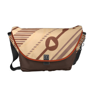 Tech Background Messenger Bag