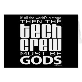 Tech Crew Gods Note Card