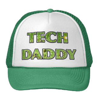 """TECH DADDY"" Trucker Hat with Electronic Design Hats"