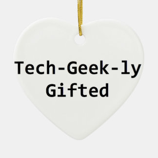 Tech-Geek-ly Gifted Ceramic Heart Decoration