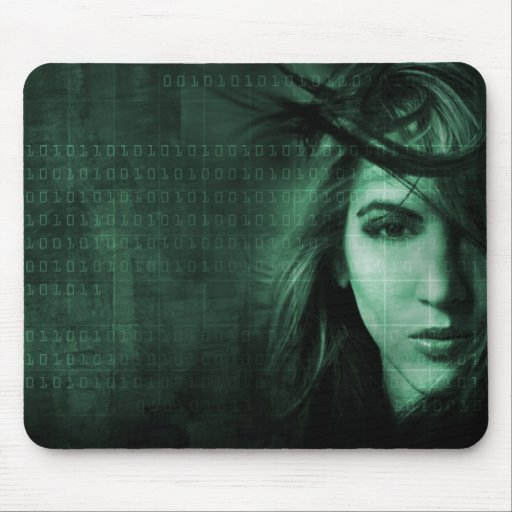 Tech girl mouse pad