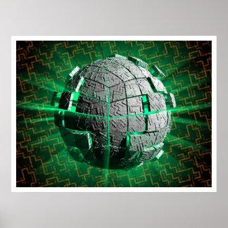 Tech Sphere Poster