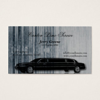 Tech Stripe Limosine Business Card