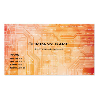 tech style business card