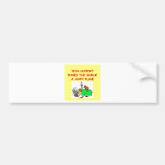 tech support bumper sticker