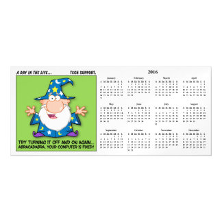 Tech Support Magic Calendar Magnetic Invitations