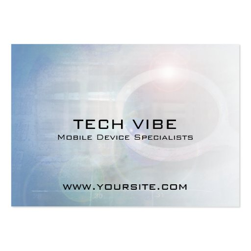 Tech Vibe Abstract Business Card