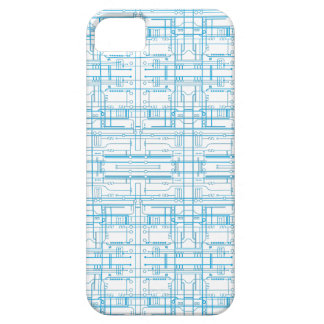Techie circuit blueprint pattern iPhone 5 case