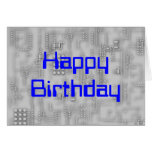 Techie HappyBirthday Greeting Card