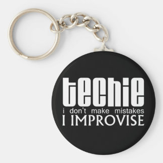 Techie Improvise Basic Round Button Key Ring