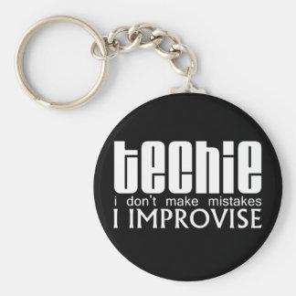 Techie Improvise Key Ring