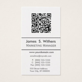 Techie Modern Simple QR Code,  Photo or Logo