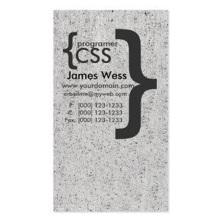 Techie Vintage Geek Web Designer CSS Computer Pack Of Standard Business Cards