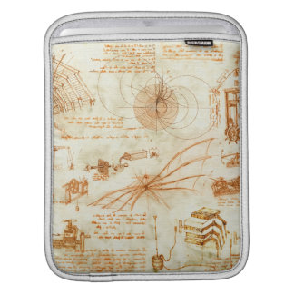 Technical drawing & sketches by Leonardo Da Vinci Sleeves For iPads