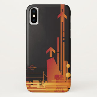 Technical halftone background 2 iPhone x case
