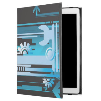 "Technical halftone background 3 iPad pro 12.9"" case"