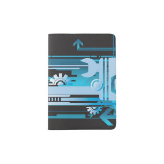 Technical halftone background 3 passport holder