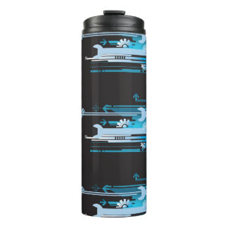 Technical halftone background 3 thermal tumbler