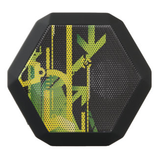 Technical halftone background 4 black bluetooth speaker