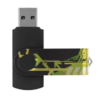Technical halftone background 4 USB flash drive