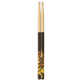Technical halftone background 5 drumsticks