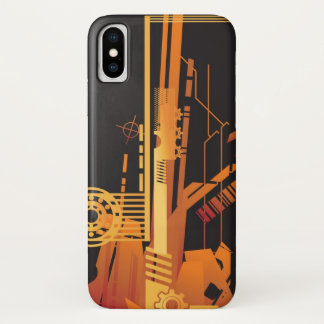 Technical halftone background 6 iPhone x case