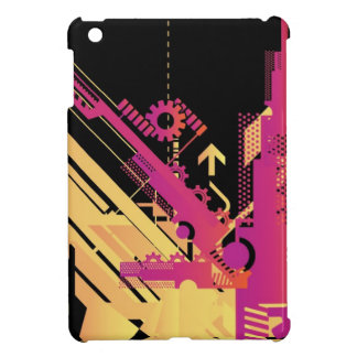 Technical halftone background 7 iPad mini covers