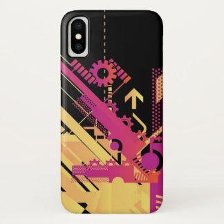 Technical halftone background 7 iPhone x case