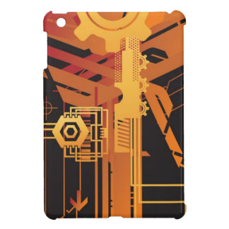 Technical halftone background case for the iPad mini