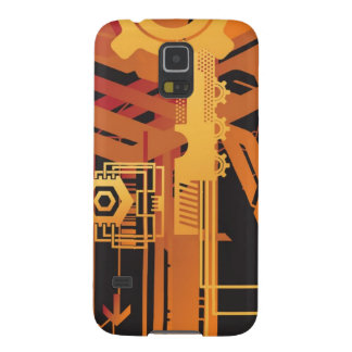 Technical halftone background galaxy s5 case