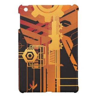 Technical halftone background iPad mini case
