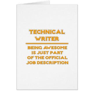 Technical Writer .. Job Description Card