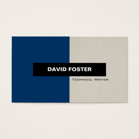 Technical Writer - Simple Elegant Stylish Business Card