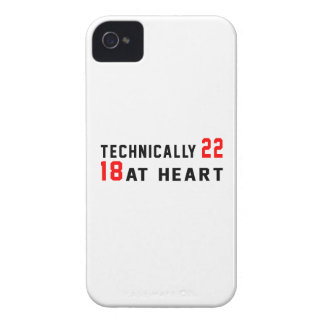 Technically 60, 22 at heart Case-Mate iPhone 4 case