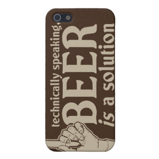 technically speaking, beer is a solution iPhone 5 cases