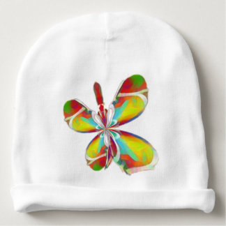 Technicolor butterfly baby cap baby beanie