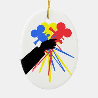 Technicolor Love  Bouquet Movie Camera Ornament