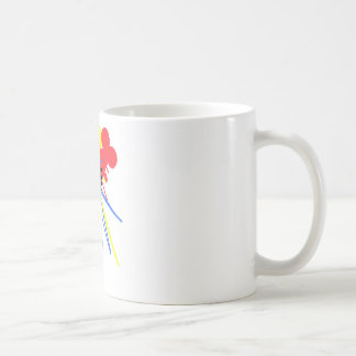 Technicolor Love Bouquet Primary Colors Basic White Mug