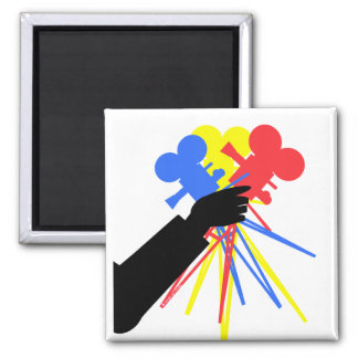 Technicolor Love Bouquet Primary Colors Magnets