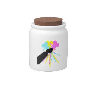 Technicolor Love Bouquet Vintage Movie Camera Jar Candy Jar
