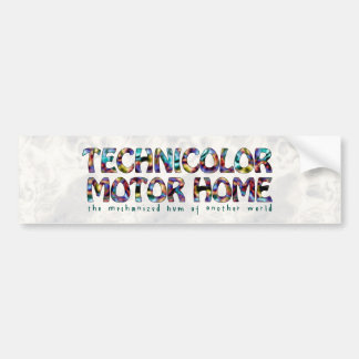 Technicolor Motor Home Logo Bumper Sticker