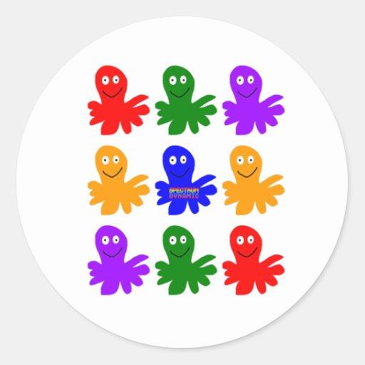 Technicolor Octopus Sticker