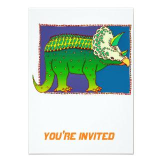 Technicolor Stegasaurus 13 Cm X 18 Cm Invitation Card