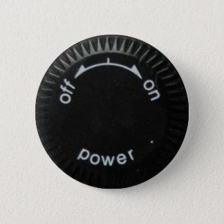 technics 1200 power 6 cm round badge