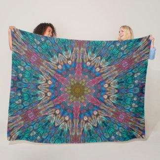 Techno Acid Dubstep Spirit Mandala Remix Fleece Blanket