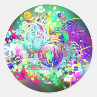 Techno Classic Round Sticker