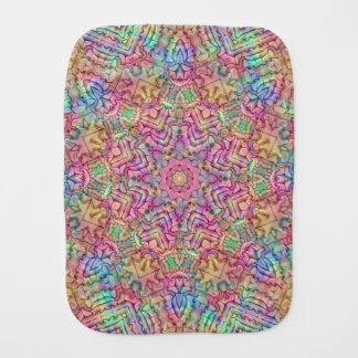 Techno Colors Kaleidoscope Burp Cloth
