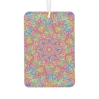 Techno Colors Pattern Air Fresheners, 4 styles Car Air Freshener