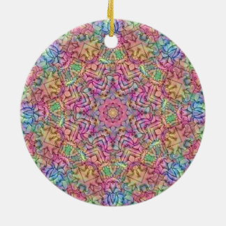Techno Colors Pattern Circle Ornament