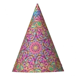 Techno Colors Pattern Custom Party Hat